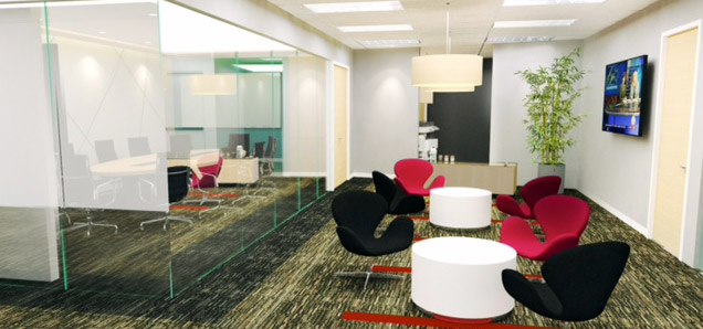 business center render